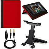 Black - Red VG Mary Edition Faux Leather Cover Case w/ Pull Out Kickstand for Vizio 8 inch Android Tablet VTAB1008... by VangoddyTM