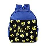 Smile Emoji Polyurethane Leather Custom Toddler Kids School Lunch Bags Backpack