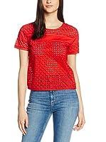 Pepe Jeans London Blusa Alegra (Rojo)