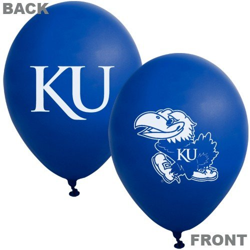 "NCAA Kansas Jayhawks Royal Blue 10-Pack 11"" Latex Balloons - 1"