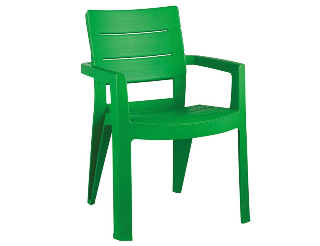 JARDIN 206972 Stapelsessel Ibiza, 62 x 62 x 83 cm, Vollkunststoff hellgrün