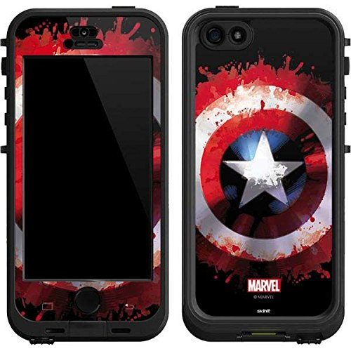 Marvel Captain America Lifeproof Nuud iPhone 5&5s Skin - Captain America Shield Vinyl Decal Skin For Your Lifeproof Nuud iPhone 5&5s (Iphone 5 Marvel Decal compare prices)