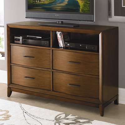 Homelegance Kasler Tv Chest King Bed In Medium Walnut front-992089