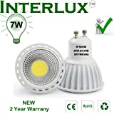 NEW 650 Lumen Warm White ceramic GU10 LED Bulb. The brightest 7W LED downlight currently available.