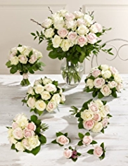 Pink and White Wedding Luxury Rose Collection 4