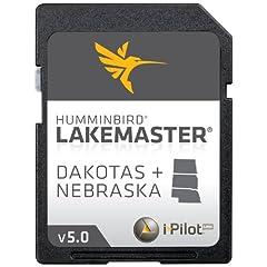 Humminbird LakeMaster 2014 Dakotas Nebraska Digital GPS Map Card by LAKEMASTER