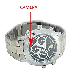 M MHB SPY Wrist watch Hidden Recording While recording no light Flashes. Still Wrist Watch Camera Inbuild 4gb Memory . Original Brand Only Sold by M MHB .