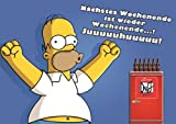The Simpsons Poster - Homer Simpson Poster - Wochenende - Die Simpsons Poster Juuhuu - Bart Simpson - DUFF Beer Poster