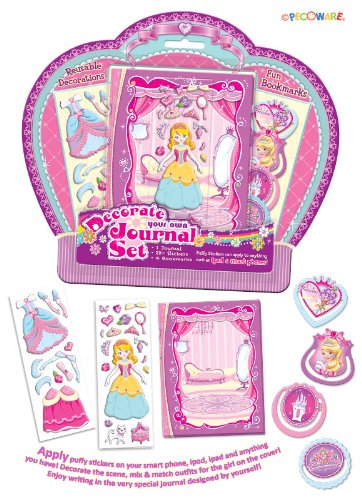 Pecoware Princess Rose Slippers Decorate Your Own Journal Set