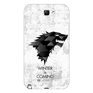 Jugaaduu Game Of Thrones GOT House Stark Back Cover Case For Samsung Galaxy Note 2 N7100