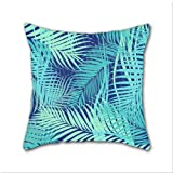 Cotton Linen Throw Pillow, Decorative Pillows.? Ferns Cotton Linen Square Decorative Throw Pillow Case Cushion Cover 18 x 18 Inch