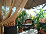 Outdoor Gazebo Patio Drapes ..Bronze.. Semi Sheer.. Price Includes (2) Panels (Each Panel 50
