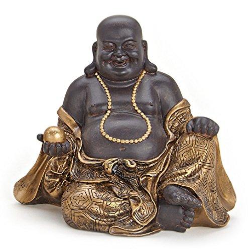 Deko Figur Happy Buddha Figur Sitzend Statue Aus