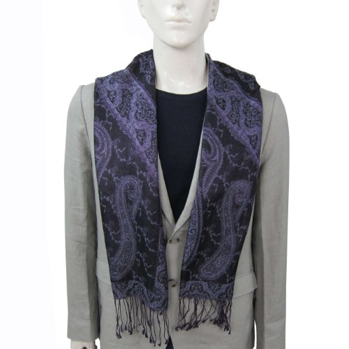 mens fashion neck scarf in silk 14 x 65 inches mens