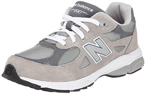 New Balance KJ990 Running Shoe (Big Kid), Grey, 7 M US Big Kid
