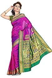ISHIN Tana silk Pink Saree