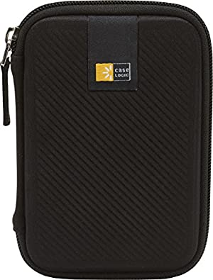 Case Logic EHDC-101 Hard Shell Case for 2.5-Inch Portable Hard Drive - Black