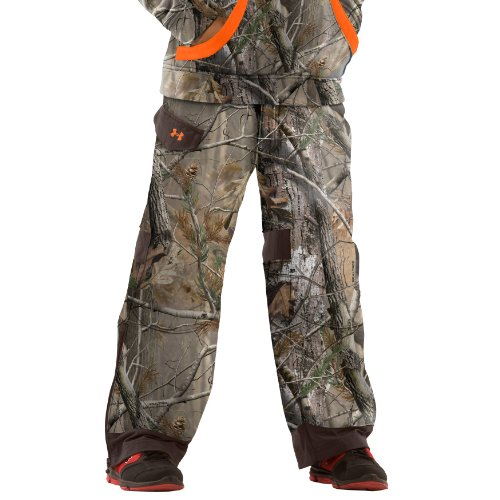 Boys' Ayton Camo Hunting Pants Bottoms By Under Armour Yxl Realtree Ap front-965639