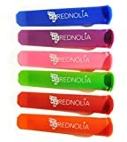 Rednolia Popsicle Molds and Ice Pop Maker with Attached Lids [Set of 6] BPA Free Multi-color