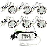 6er Set LED Einbauleuchte Möbelleuchte Einbaustrahler 2