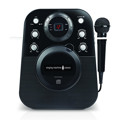 Cheapest Prices! The Singing Machine SMG303BK Portable Mini Plug N Play Karaoke CDG Player (Black)