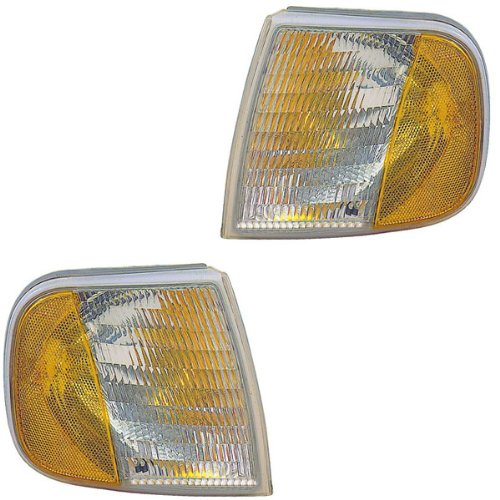 1997-2002 Ford Expedition, 1997-2003 F150 (excluding SVT/lightning & Harley Davidson models) & 1997-1999 F-Series F250 Pickup Truck (under 8500 GVW, from 6/96) Corner Park Light Turn Signal Marker Lamp Set Pair Left Driver AND Right Passenger Side (1997 97 1998 98 1999 99 2000 00 2001 01 2002 02 2003 03) (2000 Svt Lightning compare prices)