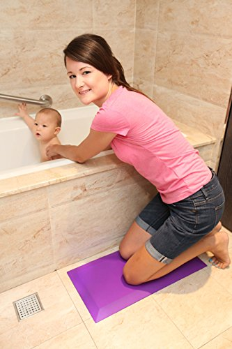 Anti Fatigue Comfort Kneeler 10 x 20 IN for new moms and dads when bathing your baby. Commercial Grade, Safety Non-Slip Strips, Easy Clean, Anti Bacteria & Multi Function. Relieves Knee and Back Pain!