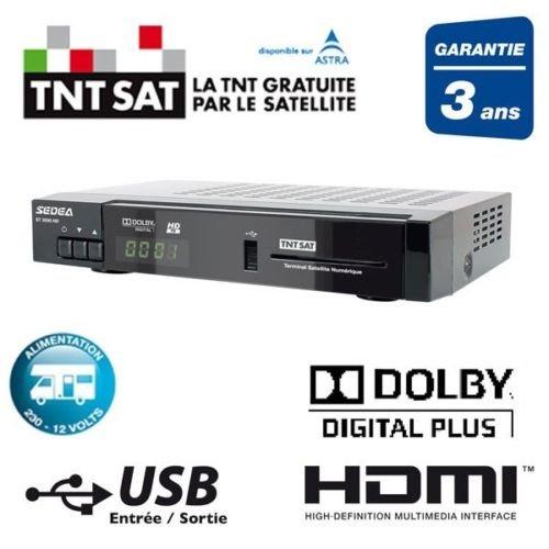 DECODEUR RECEPTEUR TNT TNTSAT SATELLITE ENREGISTREUR NUMERIQUE USB HDMI PERITEL