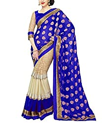 khanak export Women's Georgette Saree(KE_06_Multi-Coloured_Free Size)