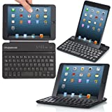 MoKo Smart Type Cover for Apple iPad Mini 7.9 inch Tablet, Silver & Slate (With built in Bluetooth Keyboard and Stand)
