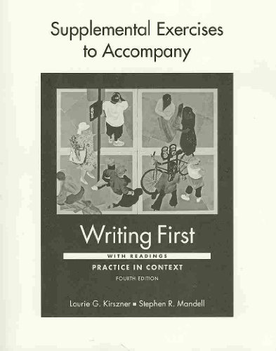 Writing First with Readings 4e & Supplemental Exercises