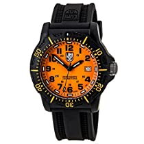 Luminox Black Ops Carbon Series Orange Dial Black Polyurethane Mens Watch 8809.GG