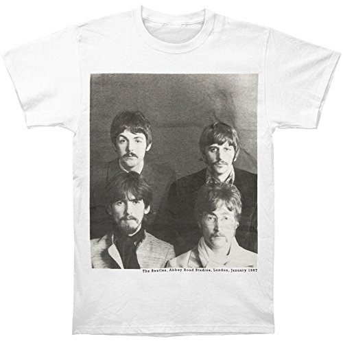 The Beatles Group Photo with Moustaches Abbey Road Studios 1967 T-shirt - White