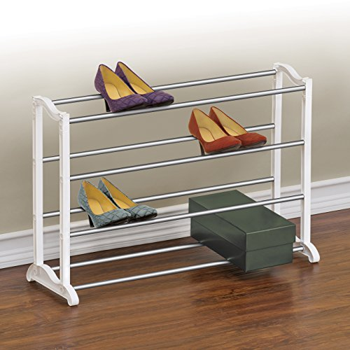 Lynk 20 Pair Shoe Rack - 4 Tier - Shoe Shelf Organizer - White (Shoe Cart compare prices)
