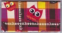 Hoooo Owl in Squares Checkbook Cover