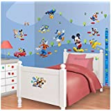 Walltastic Disney Mickey Mouse Clubhouse Room Decor Kits, Multi-Colour