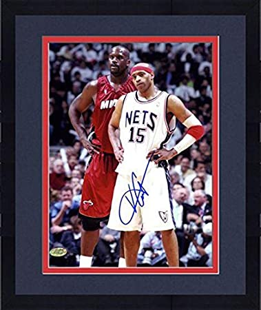 Framed New Jersey Nets Vince Carter Autographed 8'' X 10 '' Photo ...