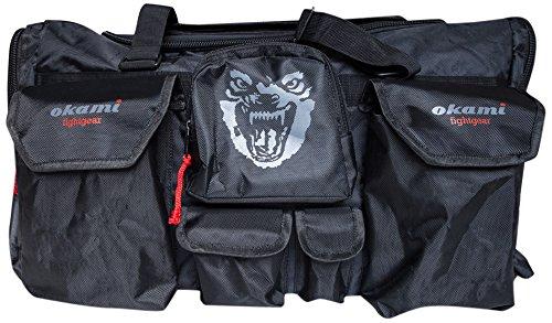 OKAMI Fightgear Sporttasche Martial Arts Sportsbag, Schwarz/Rot, One size, 50-001