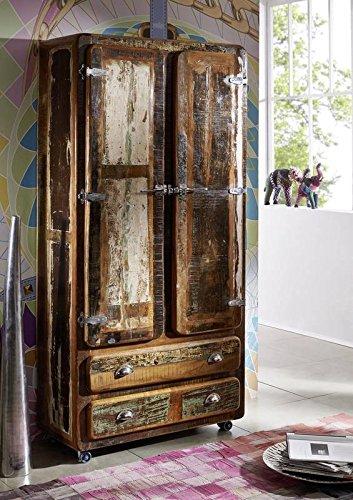 Madera maciza lacada industrial-Stil muebles armario de madera maciza de hierro muebles Freezy #39