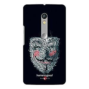 HomeSoGood V For Vendetta Mask Black 3D Mobile Case For Moto X Play (Back Cover)