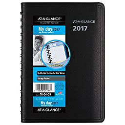AT-A-GLANCE Daily / Monthly Appointment Book / Planner 2017, QuickNotes, 4-7/8 x 8\