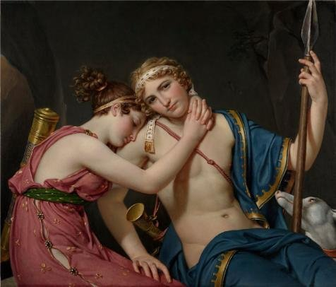 [Oil Painting 'The Farewell Of Telemachus And Eucharis, 1818 By Jacques-Louis David' 16 x 19 inch / 41 x 48 cm , on High Definition HD canvas prints is for Gifts And Dining Room, Foyer And Home] (Trailer Trash Outfits)