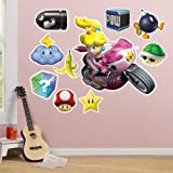 Mario Kart Wii Princess Peach Giant Wall Decal Party Supplies