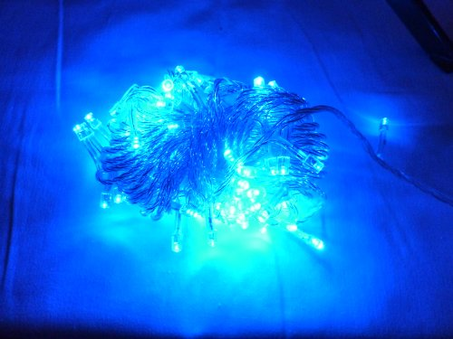 LED String Lights - Blue Color (10 Meters with Extended Plug) For Christmas, Weeding and Holidays