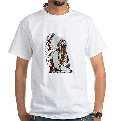 Cafepress Native American Chief White T-Shirt - L White
