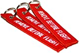 3x Remove Before Flight Key Chain aviation atv utv motorcycle pilot crew tag lock piper motorcycle cessna airport car truck model luggage backpac tractor