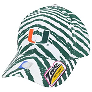NCAA UM Miami Hurricanes Canes Top of the World Smash Zubaz Snapback Hat Cap