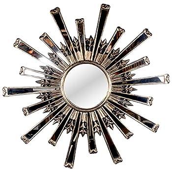 AFD Home 10961817 Sunburst Mirror, Silver Finish