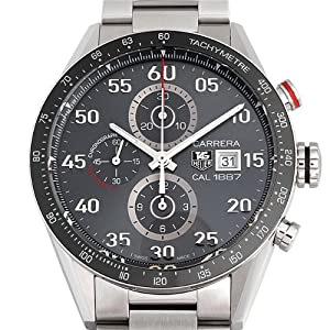 Tag Heuer Men's 'Carrera' Stainless Steel Grey Dial Chronograph Watch