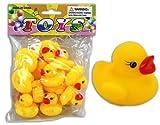 12er Set Bade Ente, Badeente, je ca. 3,5cm, Quietsche-Entchen, Quietsch-Enten von LG-Imports